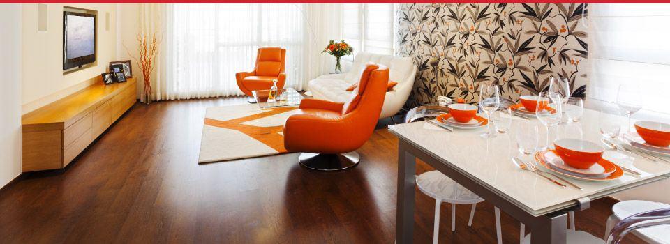 plancher de bois dans salon