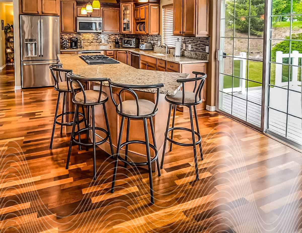 cuisine avec plancher de bois